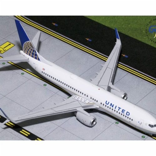 Gemini200 G2UAL759 United Airlines Boeing Scimitars 737-800S Scale 1 by 200 Reg No. N14237 Perspective: front