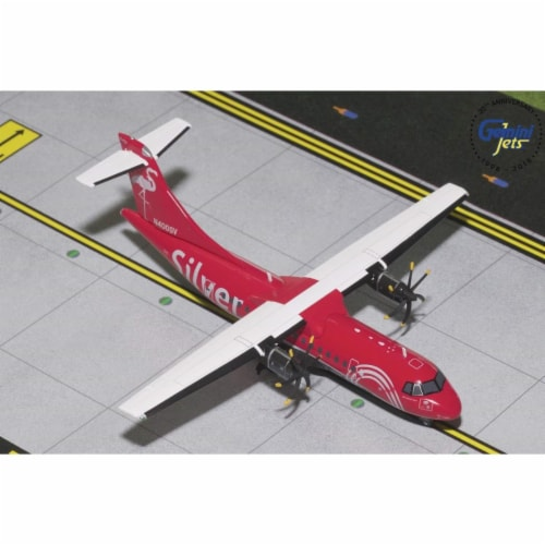 Gemini200 G2SIL762 Silver ATR-42-600 Scale 1 by 200 Flamingo Die-cast Reg No. N400SV Perspective: front