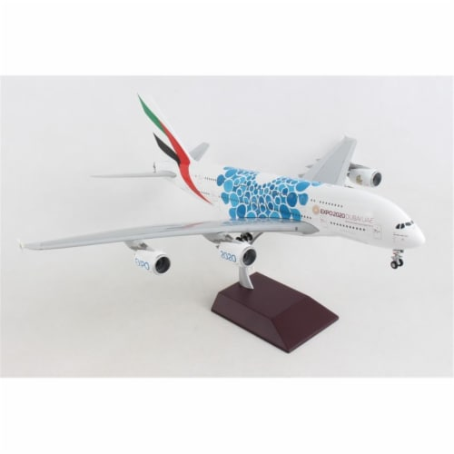Gemini200 G2UAE779 Emirates A380 1-200 Blue Expo 2020 Reg No. A6-Eoc Aircraft Perspective: front