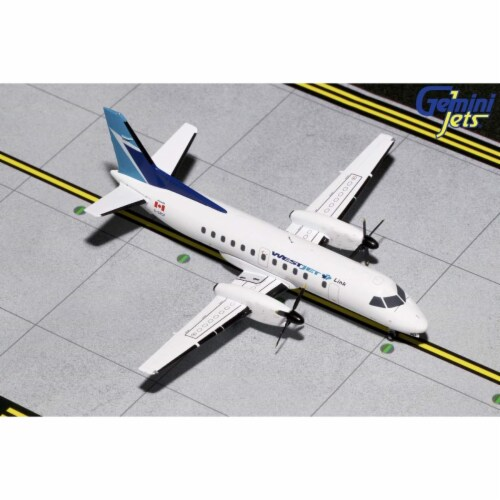 Gemini200 G2WJA782 Westjet Canada Saab SF-340 Scale 1 by 200 Reg No. C-GPCF Perspective: front