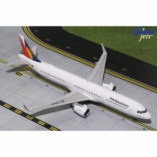 Gemini200 G2PAL788 Philippine Airbus A321Neo Scale 1 by 200 Scale Diecast Model Airplane Reg Perspective: front
