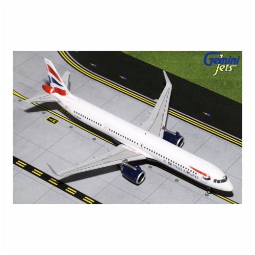 Gemini200 G2BAW802 British Airways Airbus A321neo Scale 1 by 200 Reg No. G-NEOP Perspective: front