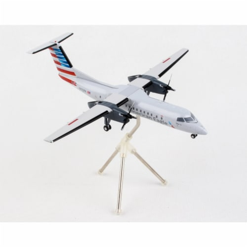Gemini200 G2AAL853 1 by 200 Scale American Eagle Piedmont Bombardier Dash 8 Q-300 N329EN Die- Perspective: front