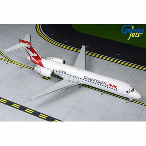 Gemini200 G2QFA864 Qantaslink B717 1-200 New Livery Reg VH-NXD Model Airplane Perspective: front