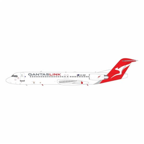 Gemini200 G2QFA868 Qantas Link- Network Aviation Fokker F-100 VH-NHP Scale 1-200 Diecast Mode Perspective: front