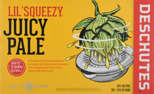 Deschutes Brewery Lil' Squeezy Juice Ale Perspective: front