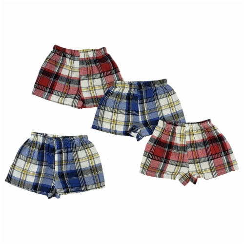 Toddler Boxer Shorts - 4 Pc Set Perspective: front