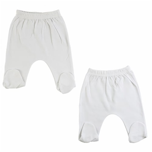 White Closed Toe Pants - 2 Pack Perspective: front