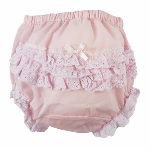 """Pink Girl's Cotton/Poly """"Fancy Pants"""" Underwear - Large Perspective: front"""