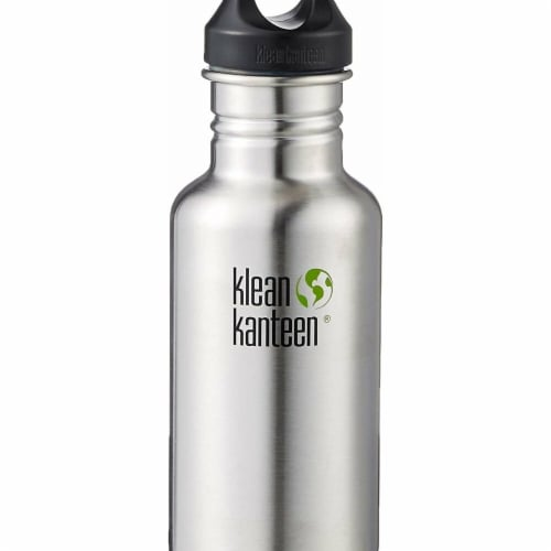 Klean Kanteen 1003095 40 oz Classic Stainless Steel Single Wall Water Bottle with Leak Proof Perspective: front