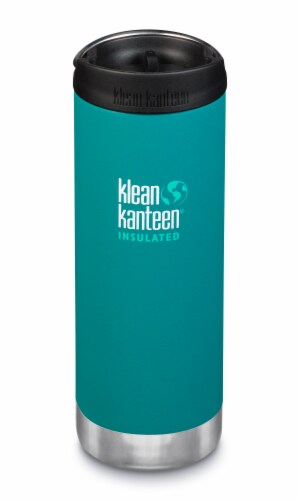 Klean Kanteen TKWide Insulated Bottle with Cafe Cap - Emerald Bay Perspective: front