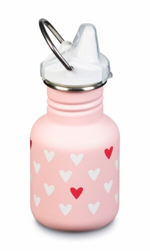 Klean Kanteen Kid Classic Sippy Bottle - Millenial Hearts Perspective: front