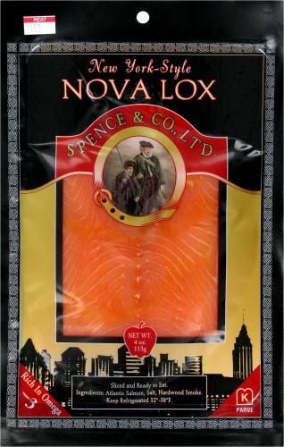 Spence & Co. New York-Style Nova Lox Salmon Perspective: front