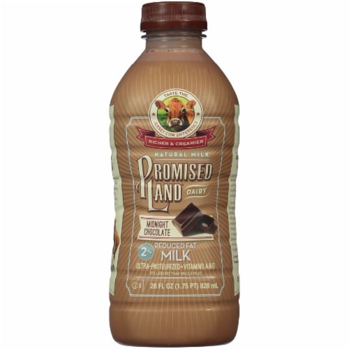 Promised Land Dairy 2% Reduced Fat Midnight Chocolate Milk Perspective: front
