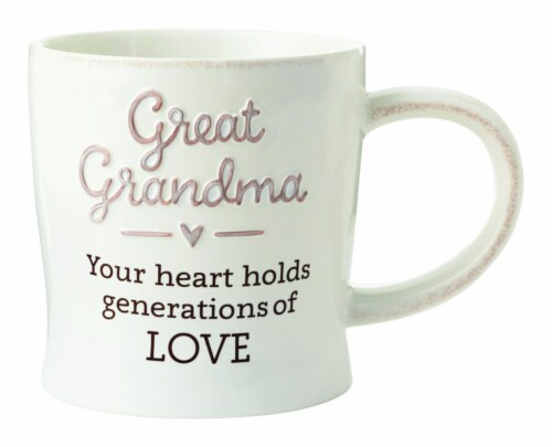Hallmark Great Grandma Ceramic Mug, Assorted - Pack of 4 Perspective: front