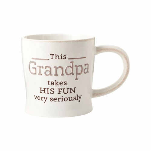 Hallmark Grandpa Ceramic Mug, Assorted - Pack of 4 Perspective: front