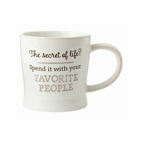 Hallmark Favorite People Ceramic Mug, Assorted - Pack of 4 Perspective: front