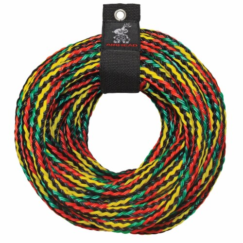 SPORTSSTUFF 53-2218 Great Big Mable Quadruple Rider Towable Tube w/ 60' Tow Rope Perspective: front