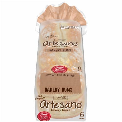 Alfaro's Artesano Bakery Buns 6 Count Perspective: front