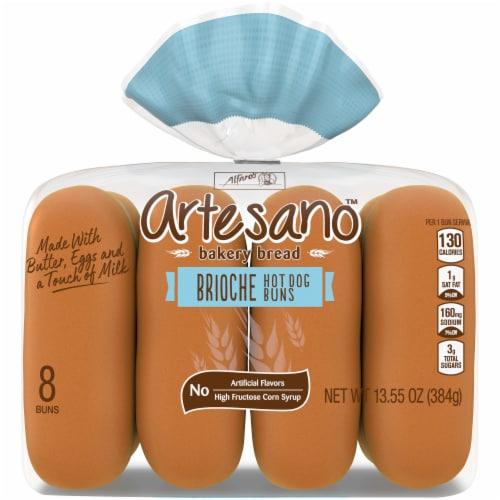 Alfaro's Artesano Brioche Hot Dog Buns Perspective: front