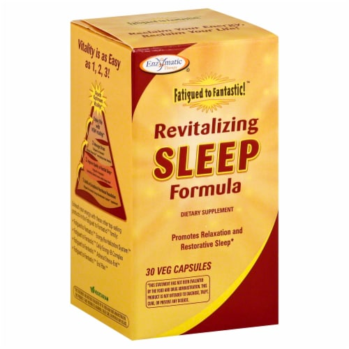 Enzymatic Therapy Revitalizing Sleep Formula Veg Capsules Perspective: front