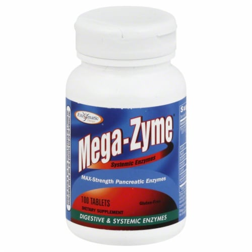 Enzymatic Therapy Mega-Zyme Extra-Strength Perspective: front