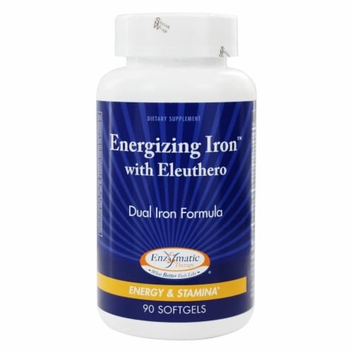 Enzymatic Therapy  Energizing Iron™ with Eleuthero Perspective: front