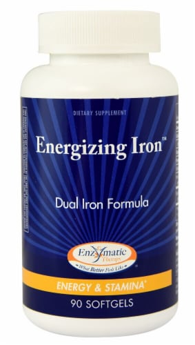 Enzymatic Therapy  Energizing Iron™ Perspective: front