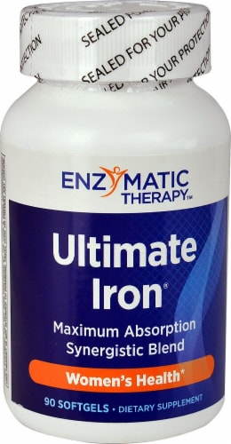 Enzymatic Therapy  Ultimate Iron® Perspective: front