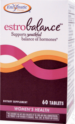 Enzymatic EstroBalance Women's Health Dietary Supplement Perspective: front