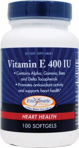 Enzymatic Therapy Vitamin E Softgels Perspective: front
