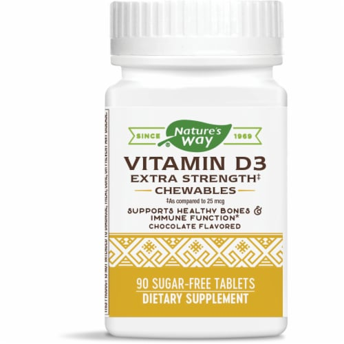 Enzymatic Therapy Vitamin D3 Chocolate Chewable Tablets Perspective: front