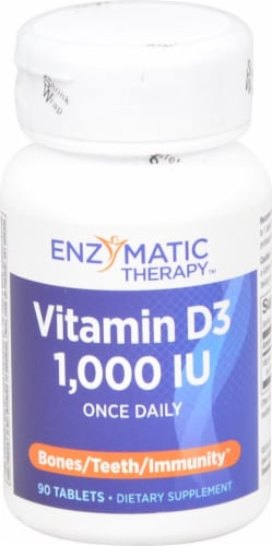 Enzymatic Therapy Vitamin D3 1000iu Tablets Perspective: front