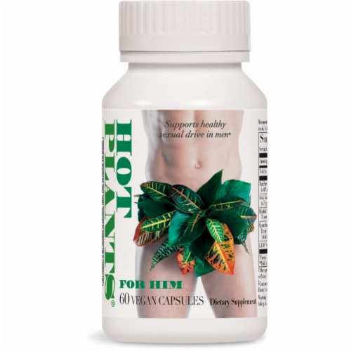 Enzymatic Therapy Hot Plants for Him Capsules Perspective: front