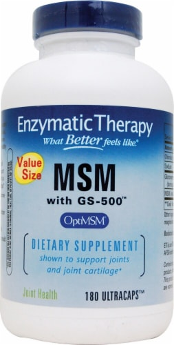 Enzymatic Therapy  MSM with GS-500™ Perspective: front