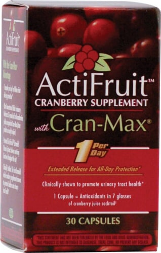 Enzymatic Therapy  ActiFruit™ Cranberry Supplement Perspective: front