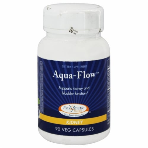 Enzymatic Therapy Aqua-Flow, 90 Vegetarian Capsules Perspective: front