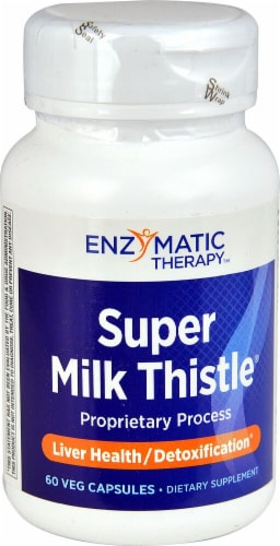 Enzymatic Therapy  Super Milk Thistle® Perspective: front