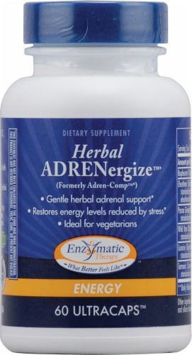 Enzymatic Therapy  Herbal ADRENergize® Perspective: front