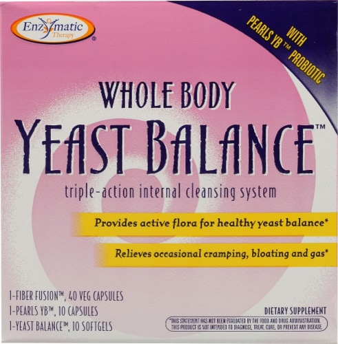Enzymatic Therapy Whole Body Yeast Balance Internal cleansing System Perspective: front
