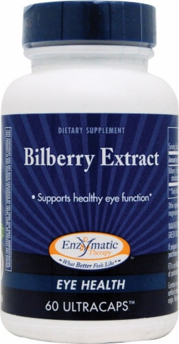 Enzymatic Therapy  Bilberry Extract Perspective: front