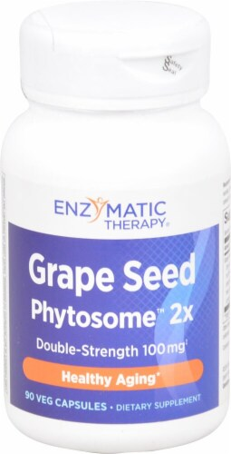Enzymatic Therapy Grape Seed Phytosome 2X Veg Capsules 100mg Perspective: front