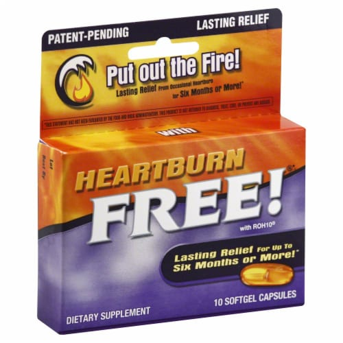 Enzymatic Heartburn Free! Lasting Relief Softgels Perspective: front
