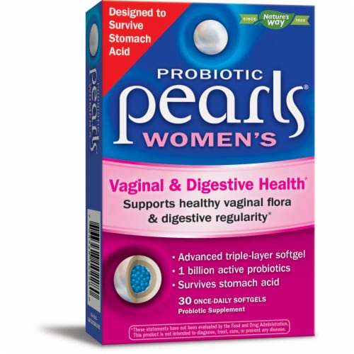 Probiotic Pearls Women's Vaginal & Digestive Health Probiotic Supplement Softgels Perspective: front