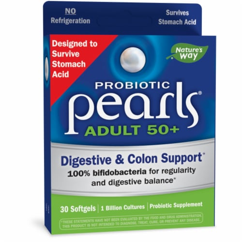 Enzymatic Therapy Probiotic Pearls Adult 50+ Softgels Perspective: front