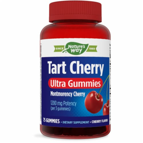 Enzymatic Therapy Tart Cherry 1200mg Ultra Gummies Perspective: front