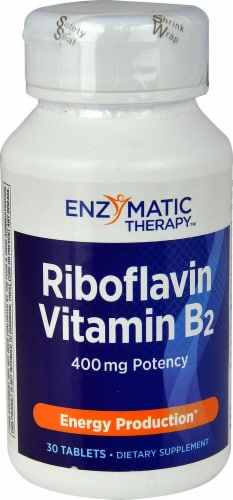 Enzymatic Therapy  Riboflavin Vitamin B2 Perspective: front