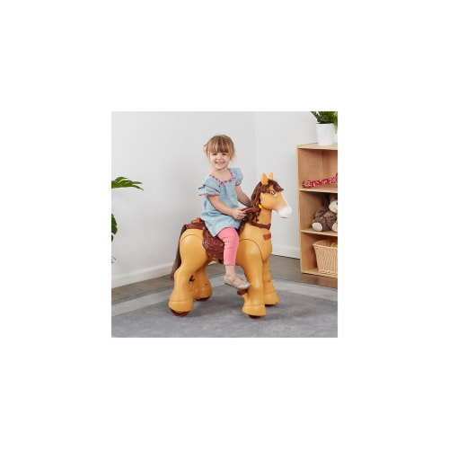 Ecr4Kids ELR-12539 My Wild Pony Motorized Ride-on Horse for Kids Perspective: front
