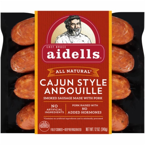 Aidells Cajun Style Andouille Smoked Pork Sausage Perspective: front