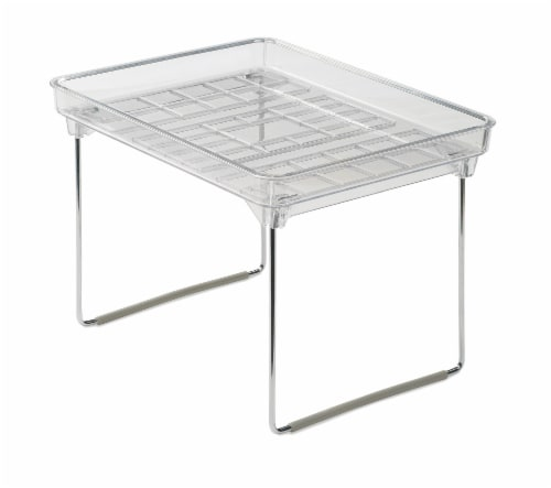 madesmart® Small Stacking Shelf - Clear Perspective: front